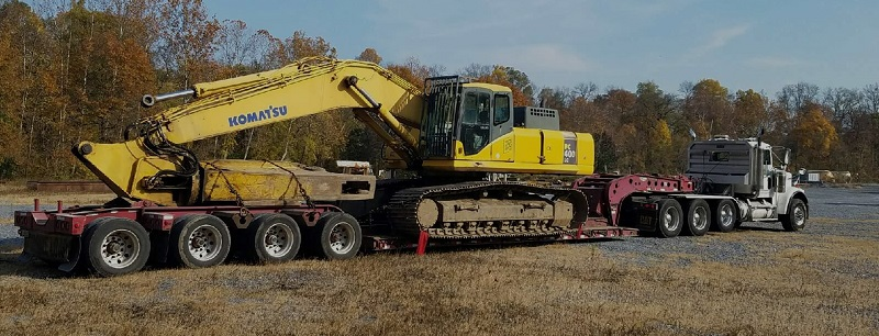construction heavy equipment transportation